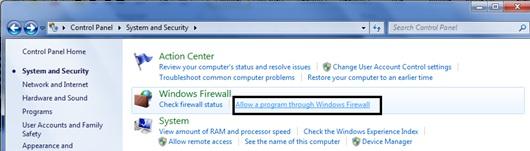 thiet lap Firewall tren window 7