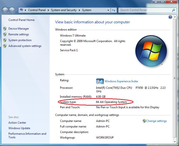 Trên cửa sổ Properties, xem Systems Type sẽ biết hệ điều hành đang sử dụng  là 32 bit hay 64 bit