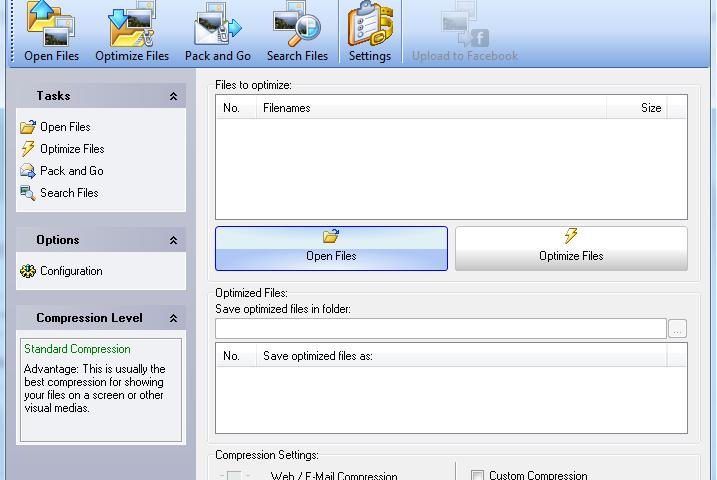 Giảm dung lượng ảnh bằng phần mềm FileMinimizer